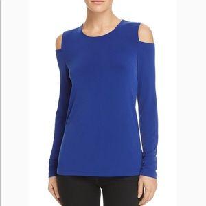 DKNY royal blue cold shoulder top